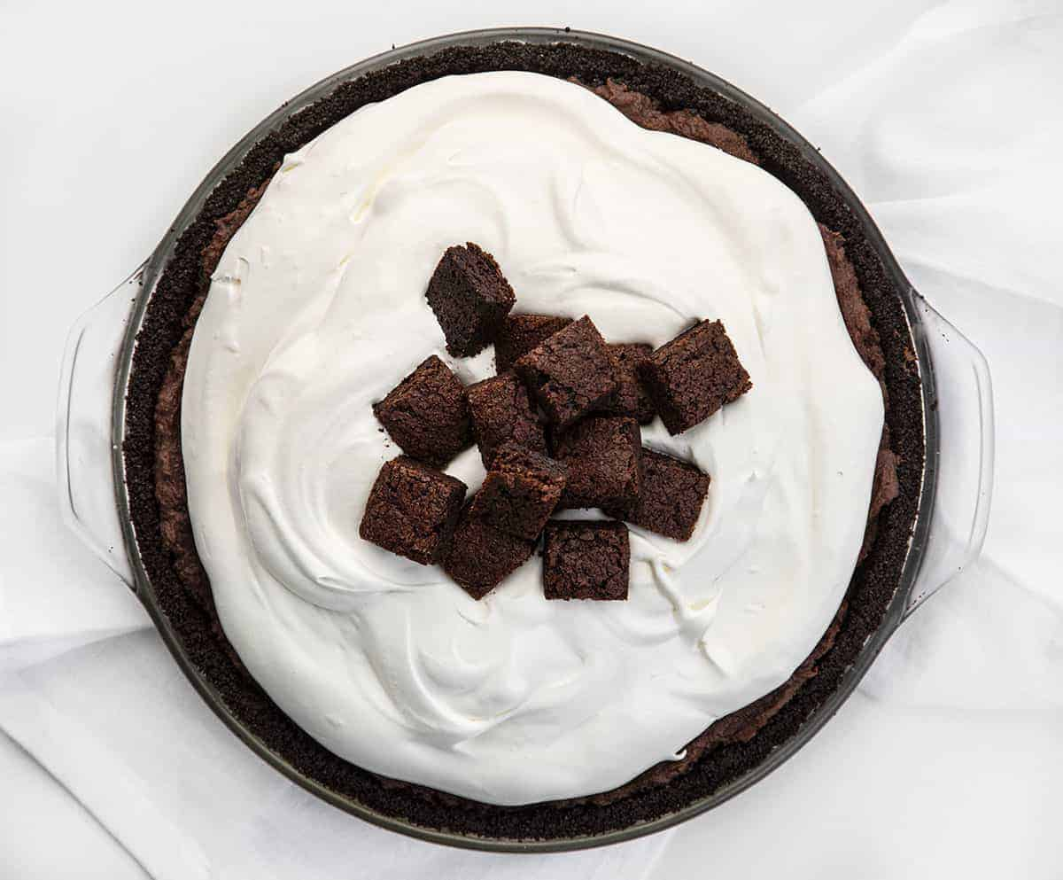 Death By Chocolate Pie - Chocolate Brownie Pie from Overhead