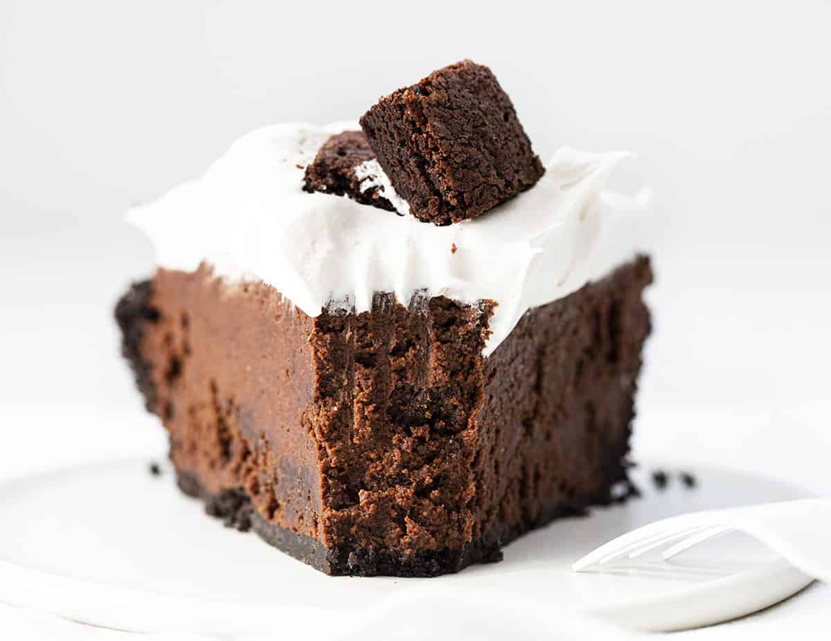 Bite Missing from Death By Chocolate Pie - Chocolate Brownie Pie