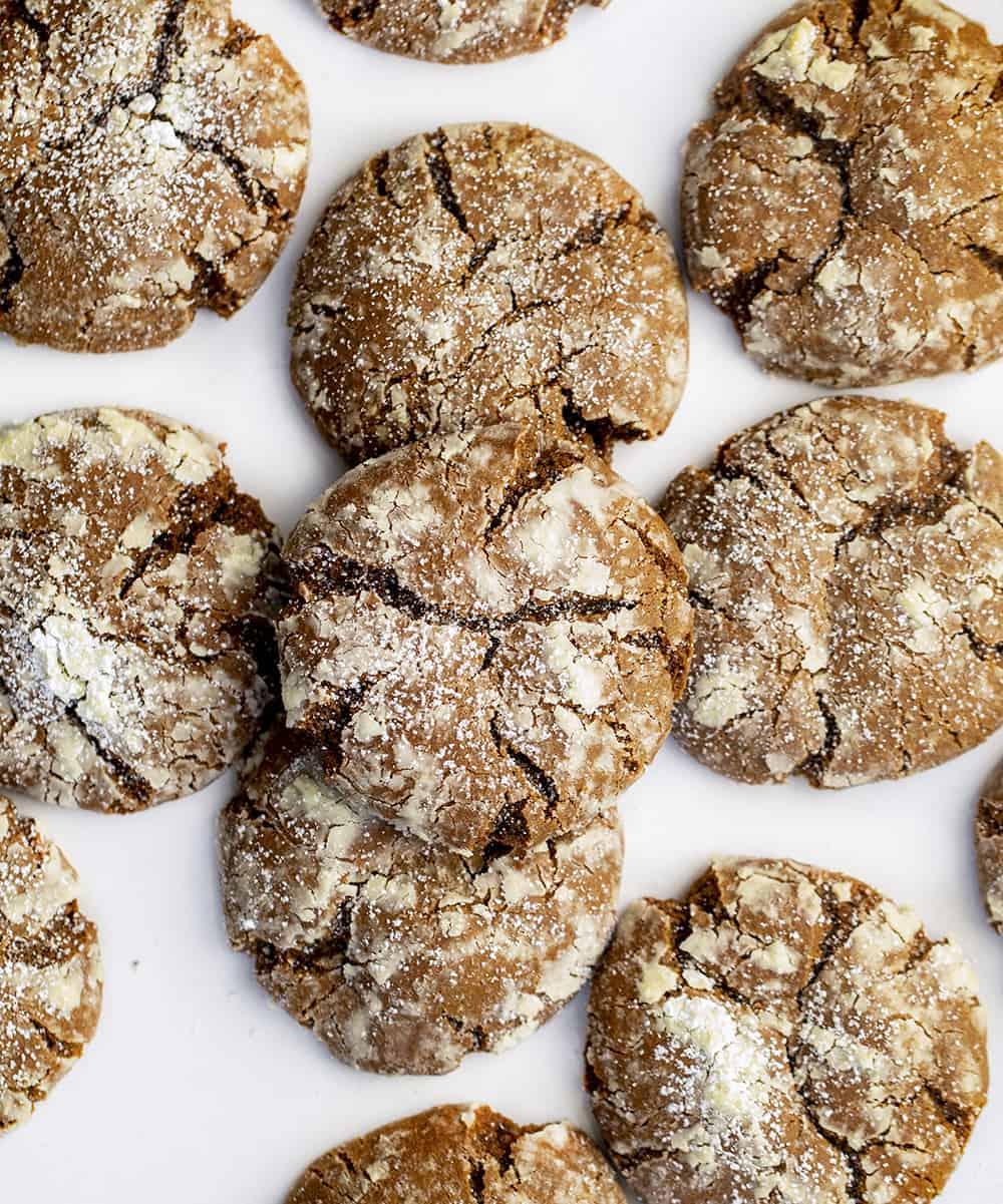 Gingerbread Crinkles Cookies from Overhead