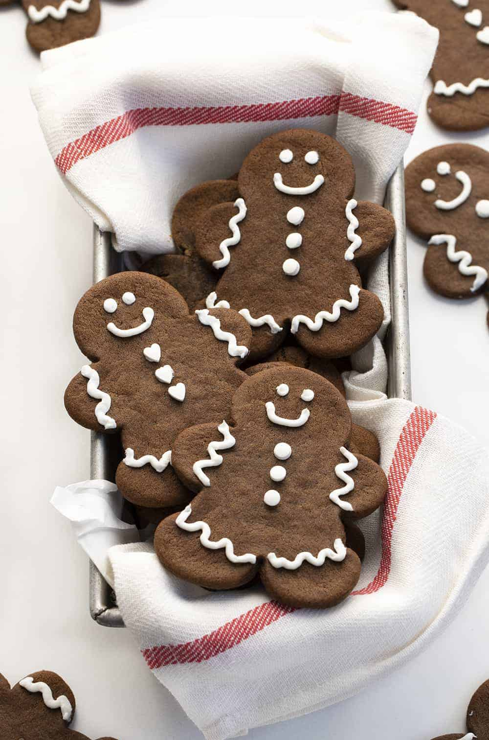 Basket of Gingerbread Man Cookies