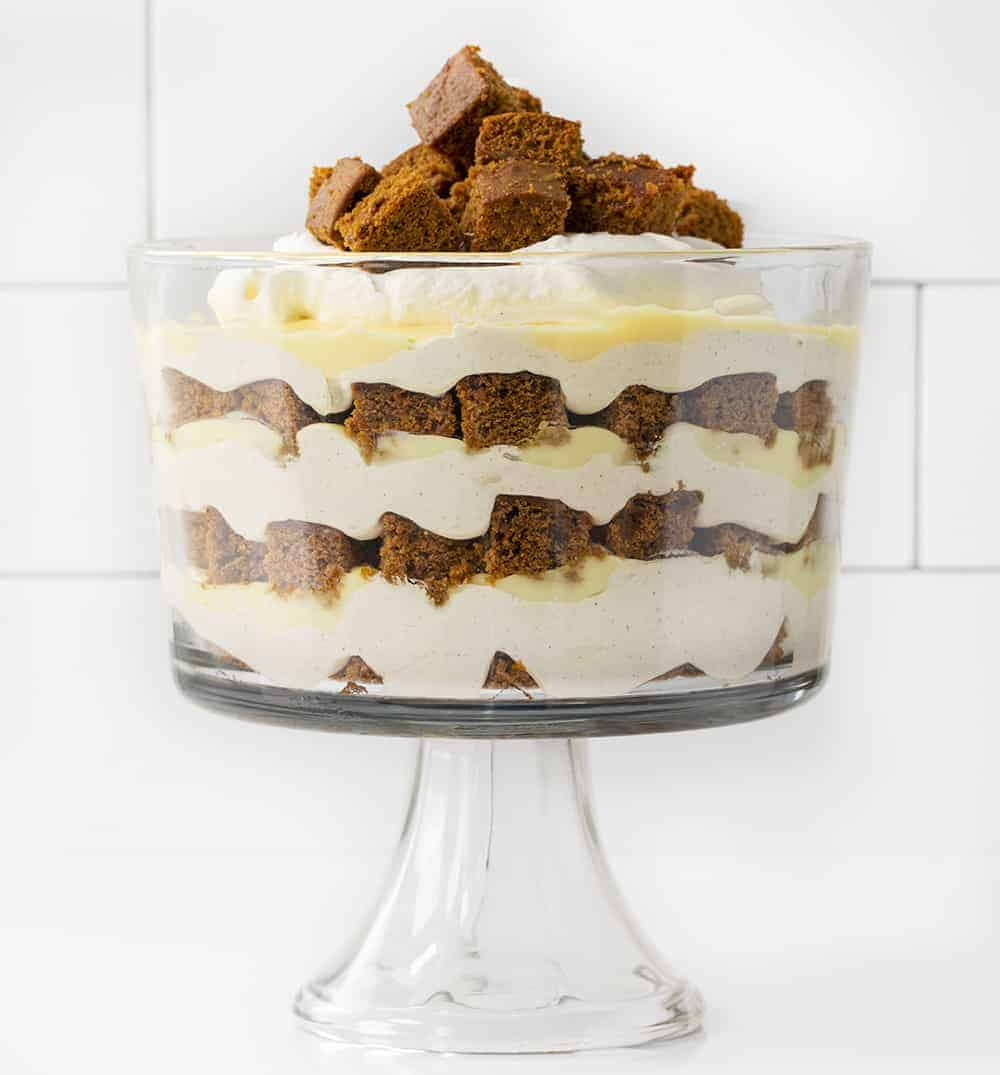 Gingerbread Trifle on Counter