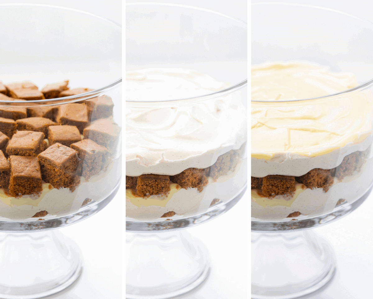 Process images for Gingerbread Trifle