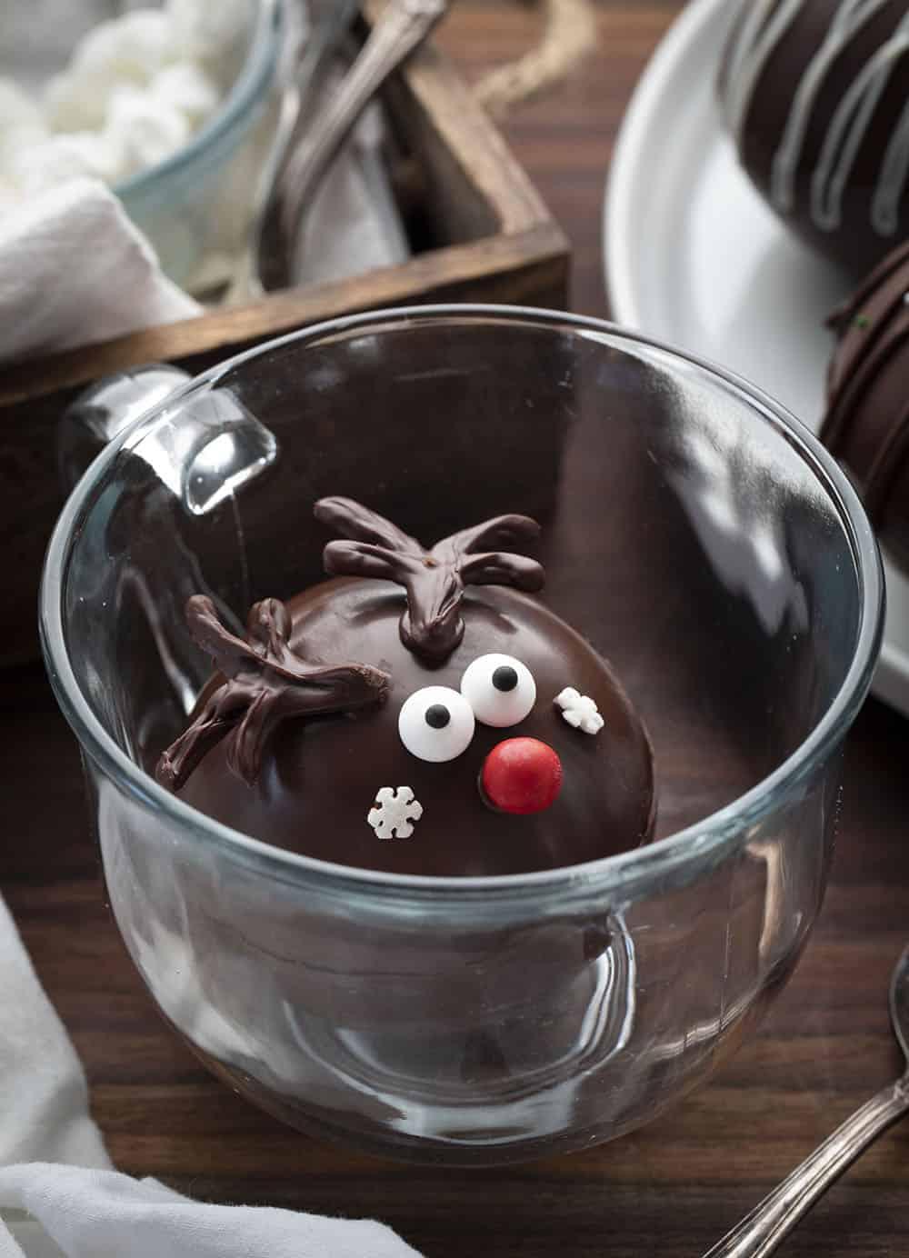 Rudolf Hot Chocolate Bomb in Mug