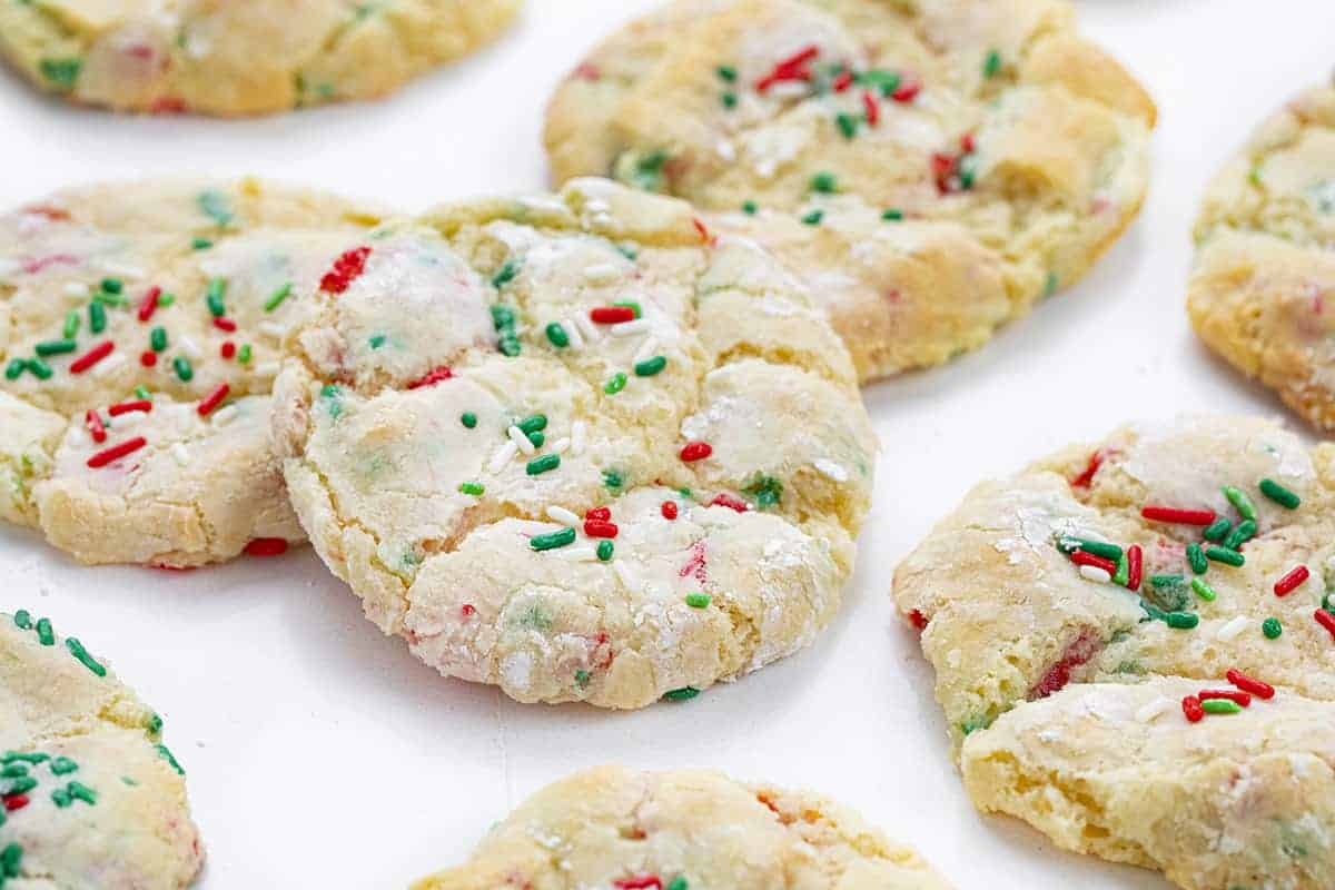 Christmas Ooey Gooey Cookies on White Counter