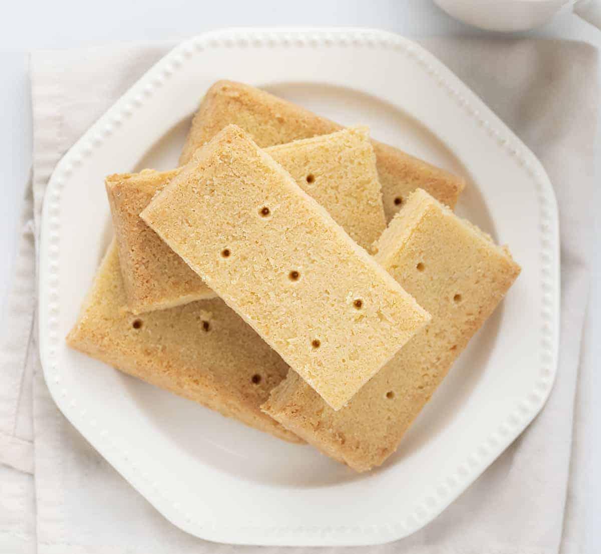 Overhead of The Best Shortbread Cookies