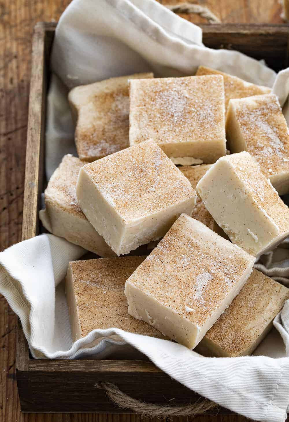 Basket of Snickerdoodle Fudge