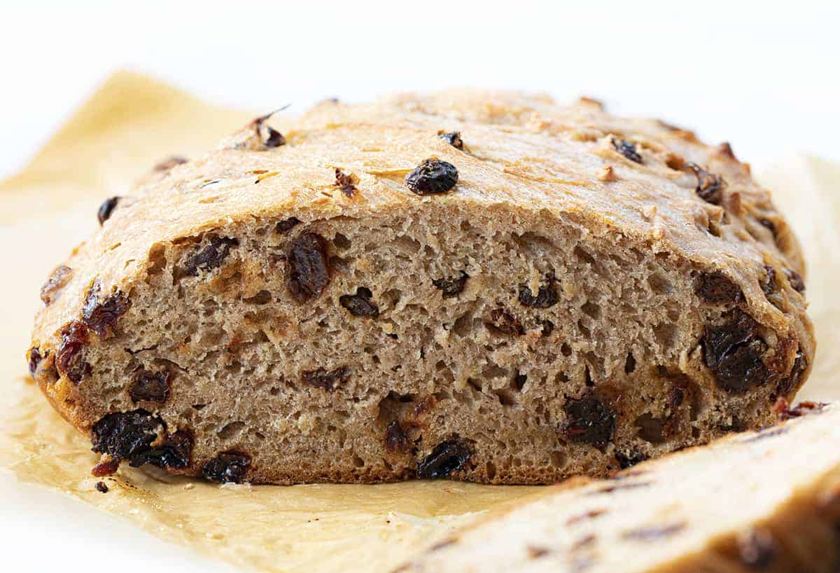 Cut Into Cinnamon Raisin Bread