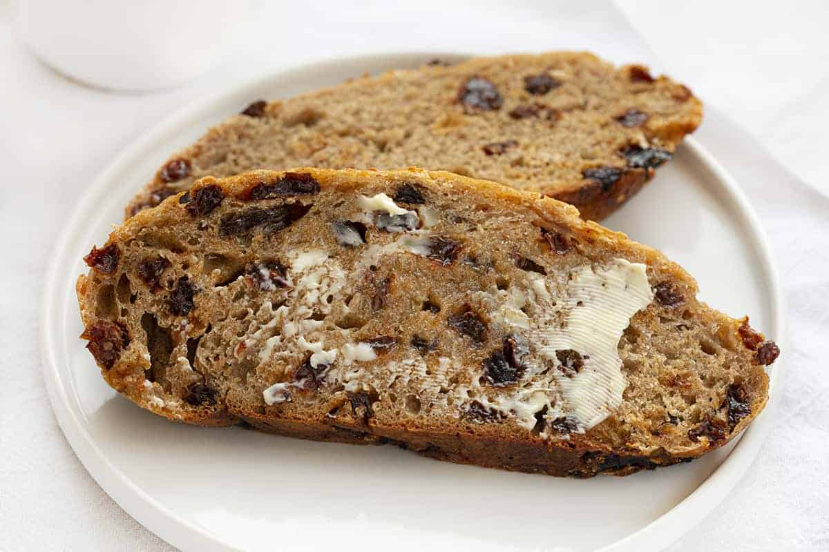 Slices of Cinnamon Raisin Bread Recipe