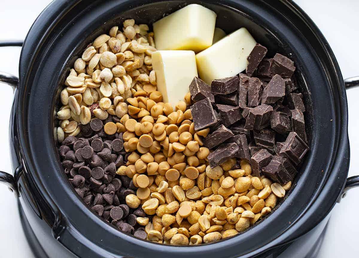 Overhead of Chocolate in Crockpot