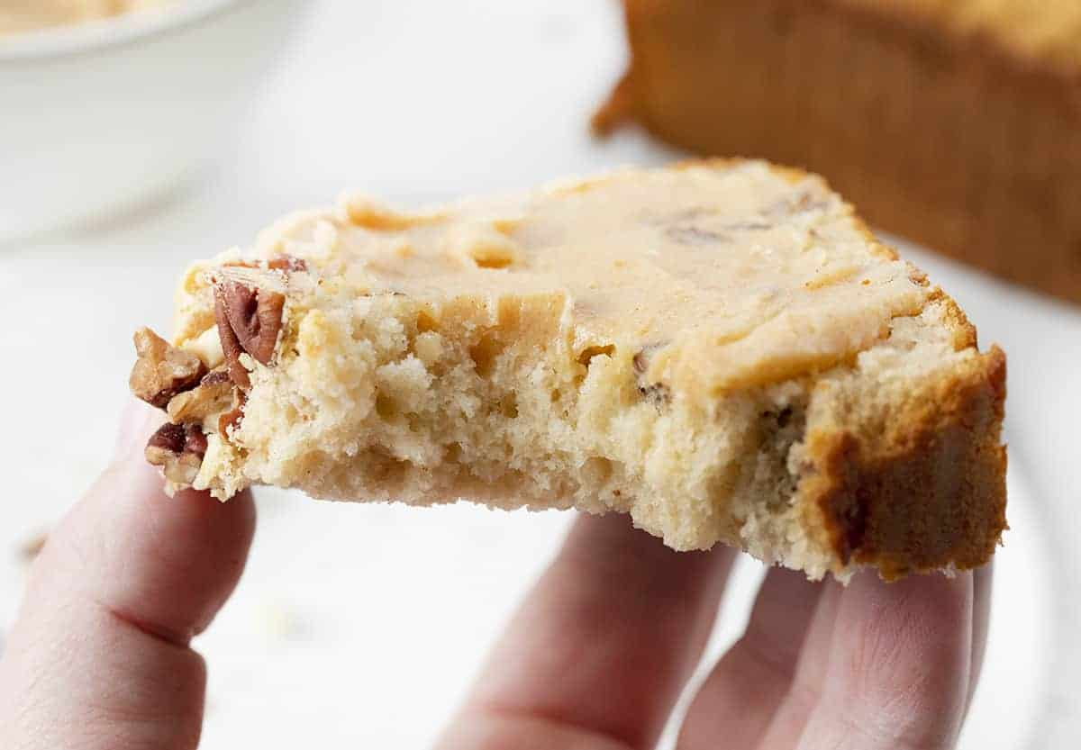 Bit Into Pecan Ice Cream Bread with Maple Butter