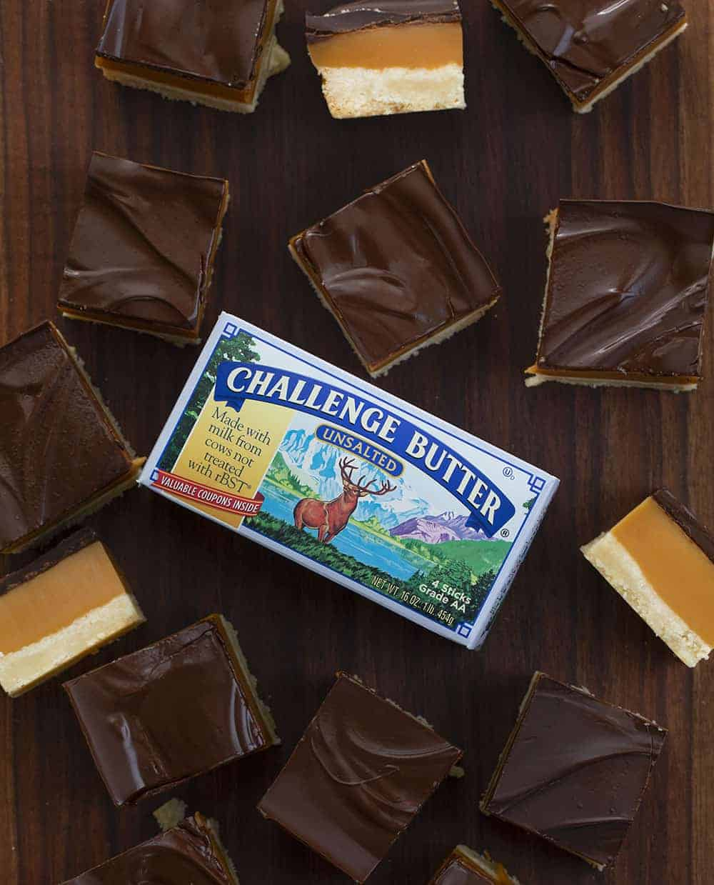 Millionaire Bars made with Challenge Butter