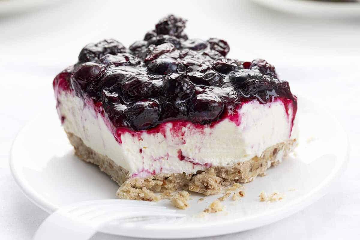 Piece of Blueberry Jamboree with Bite taken