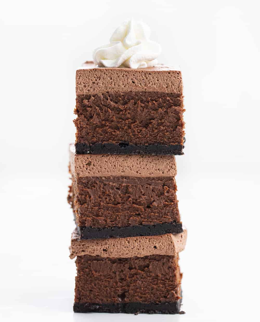 Stacked Chocolate Cheesecake Bars