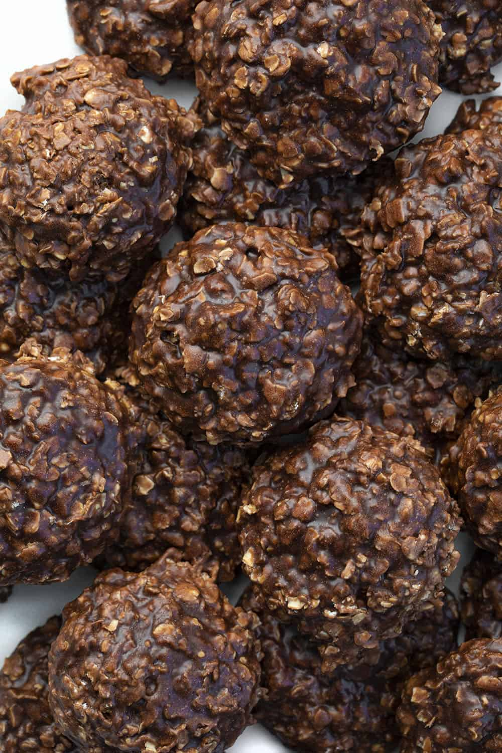 No Bake Chocolate Peanut Butter Cookies from Overhead