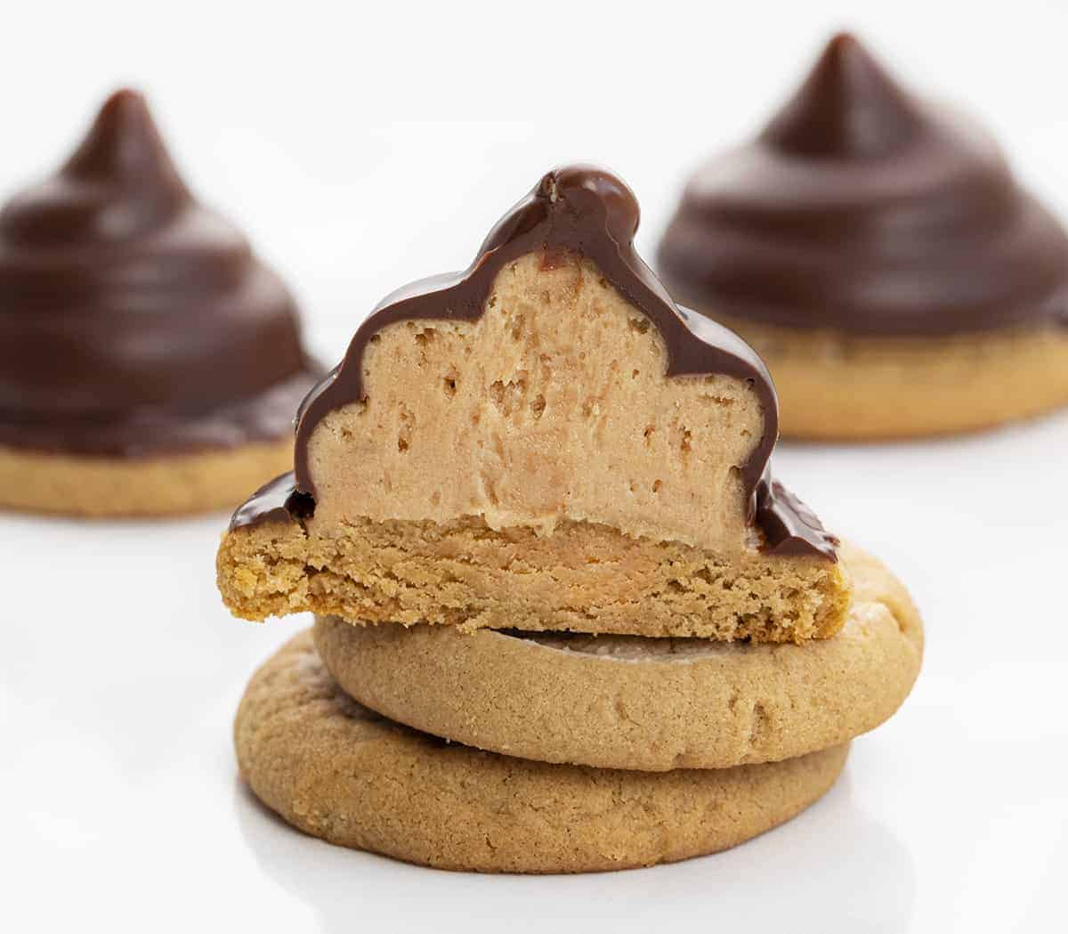 Inside of Peanut Butter Hi Hat Cookies