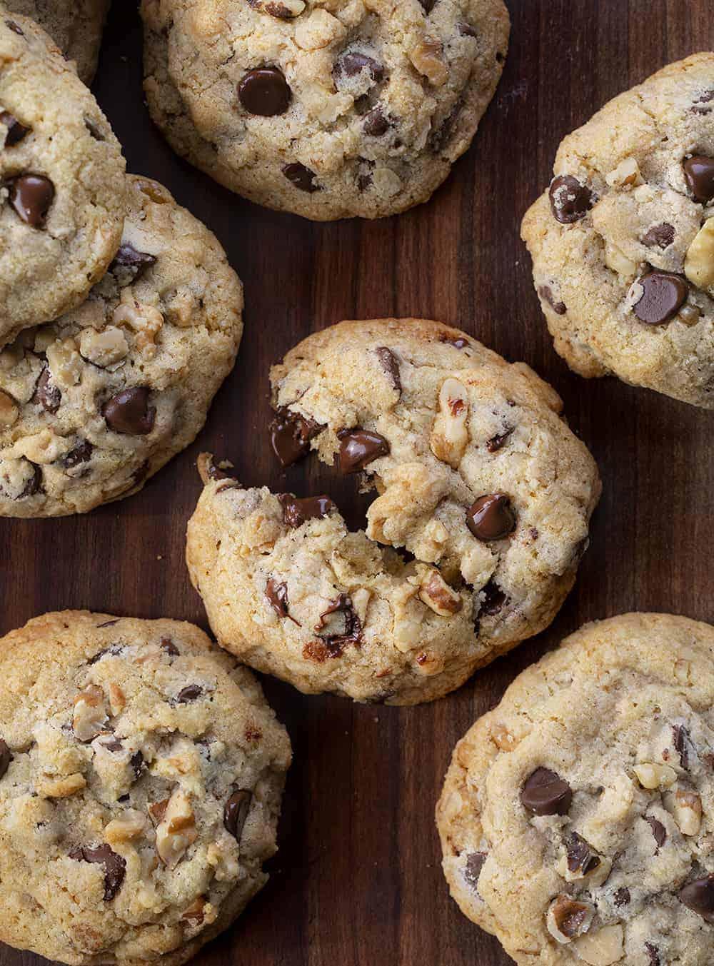 Broken Walnut Chocolate Chip Cookies - Doubletree Copycat Cookie from Overhead