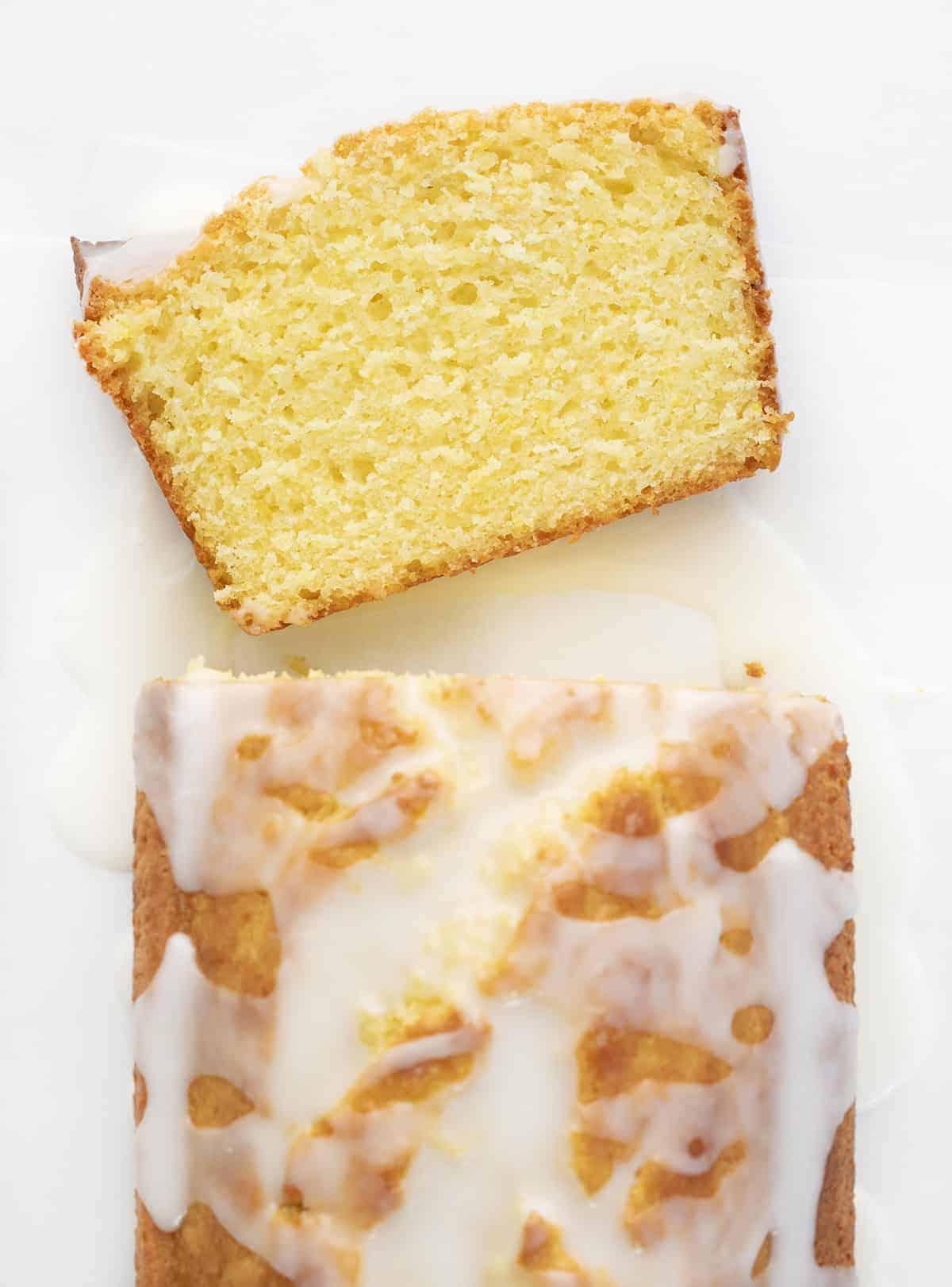 Slice of Lemon Loaf Bread