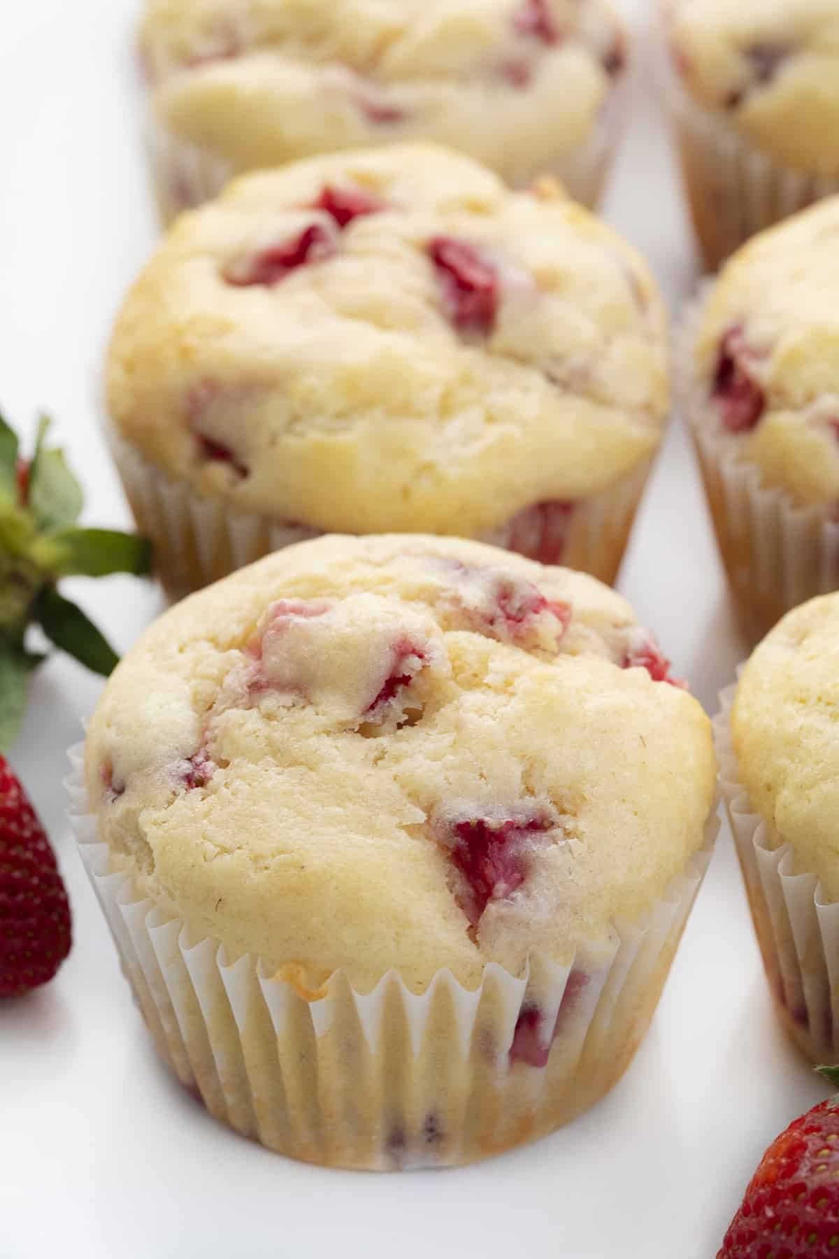 Real Strawberry Muffins