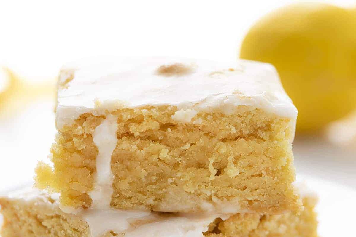 Close up of Lemon Brownies