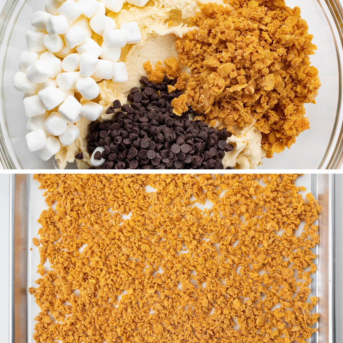 Process for Cornflake Marshmallow Cookies {Milk Bar Copycat}