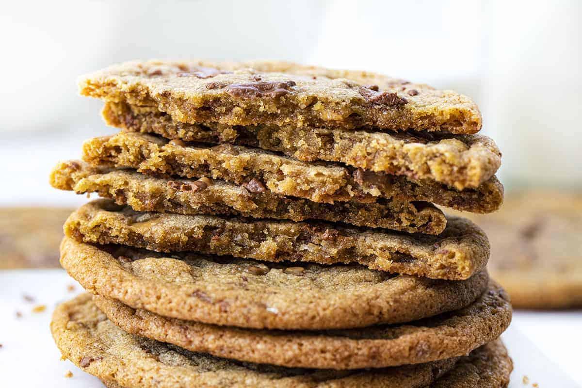 Broken in Half Brown Butter Toffee Cookies Recipe