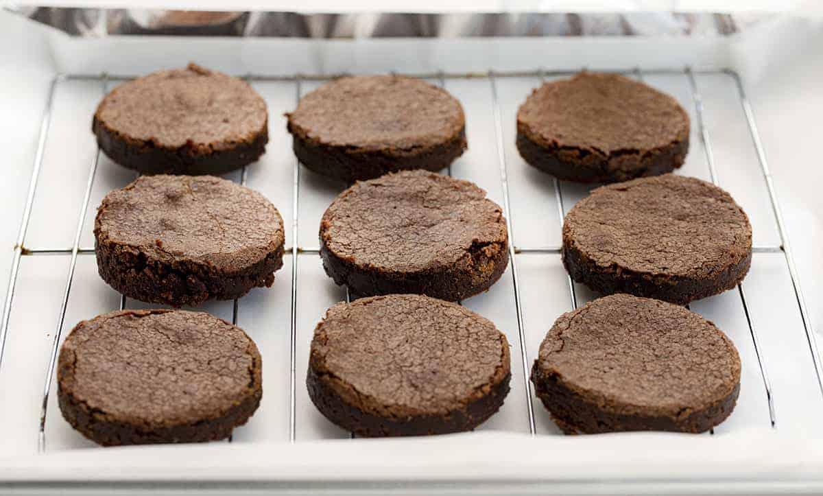 Cut Up Brownies for Salted Caramel Brownie Hi-Hat