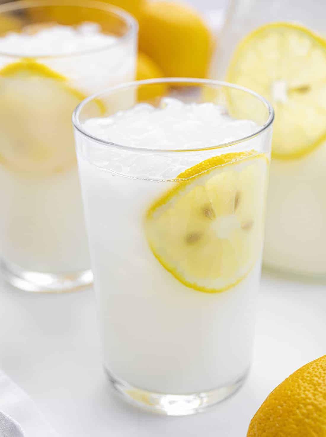 Glass of Creamy Lemonade - Brazilian Lemonade Recipe