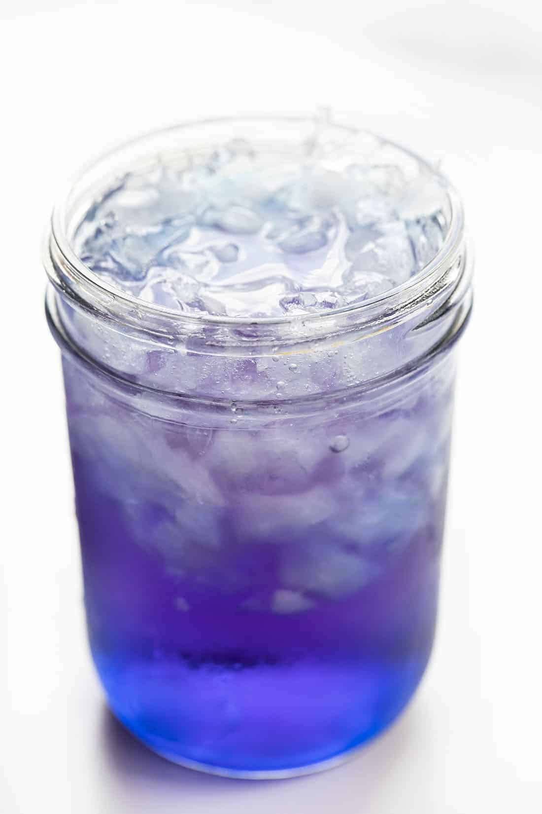 Mason Jar of The Grimace Cocktail