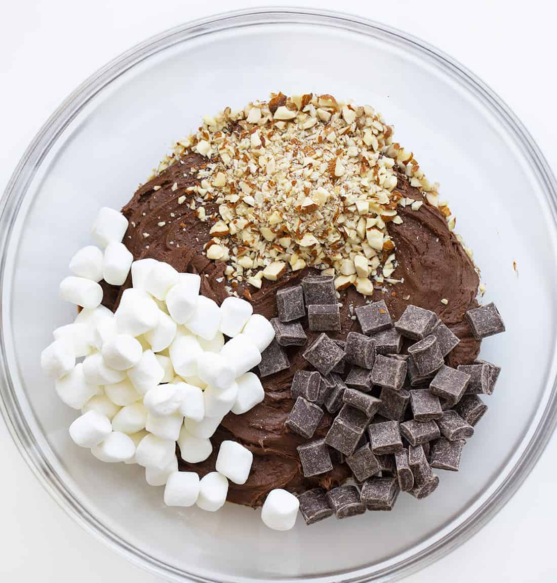 Raw Ingredients for Rocky Road Cookies