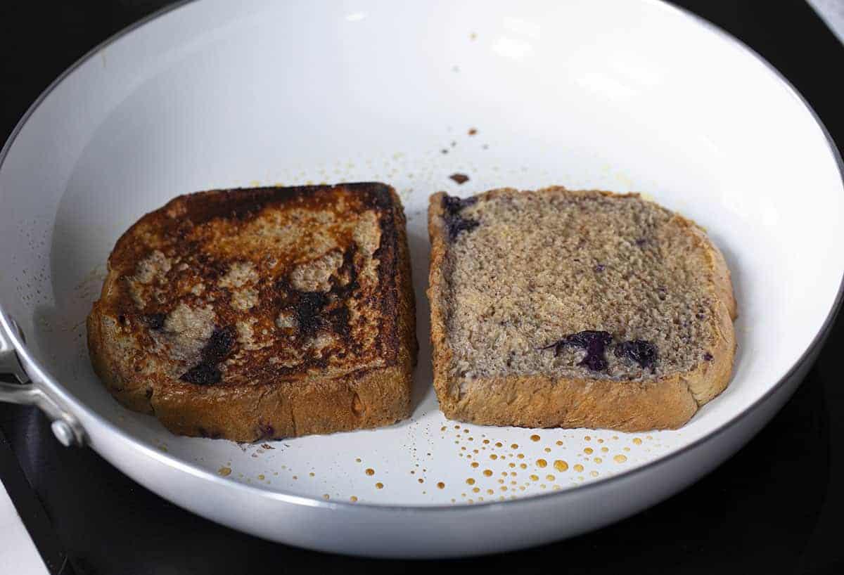 Making Blueberry French Toast