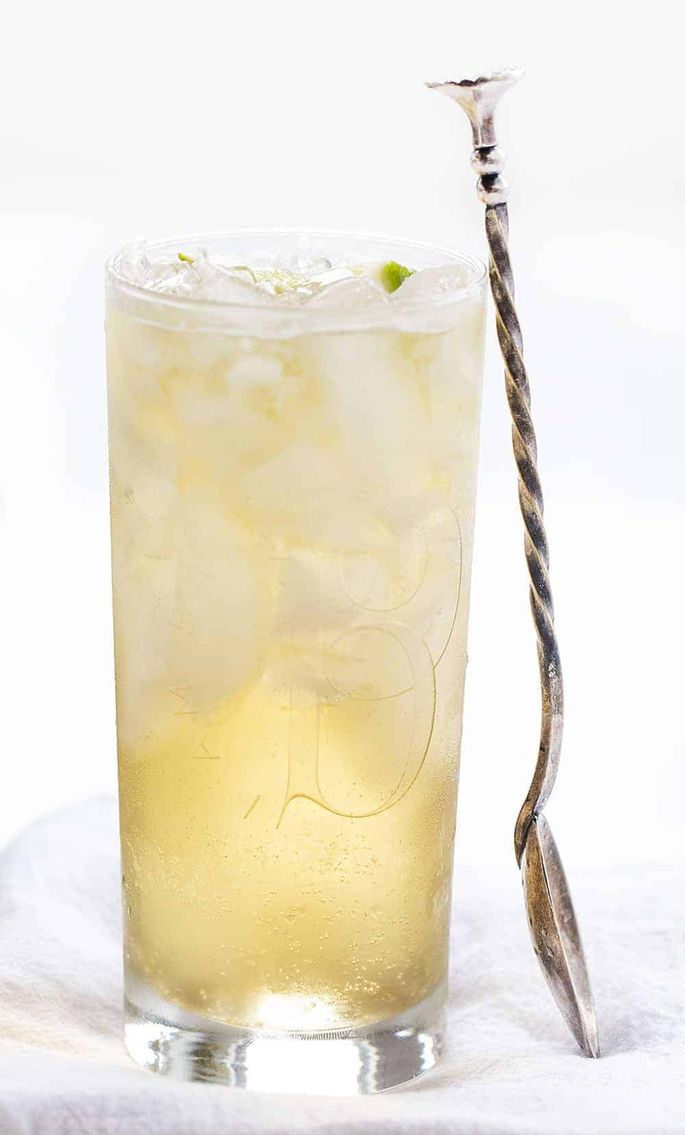 Glass of Homemade Gingerale with Jameson