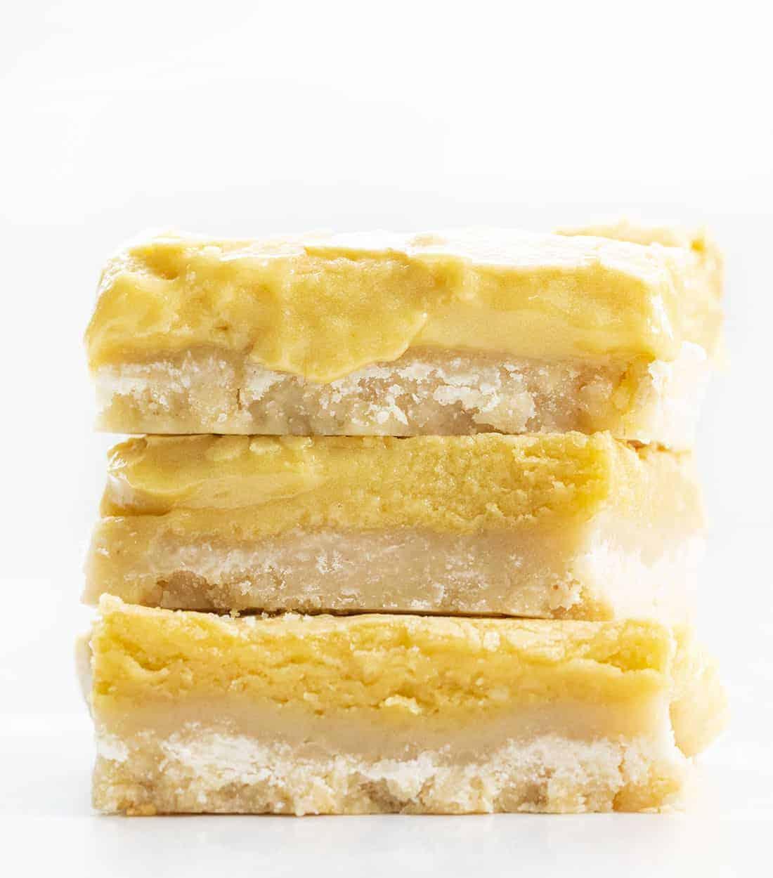 Stack of Ooey Gooey Butter Bars