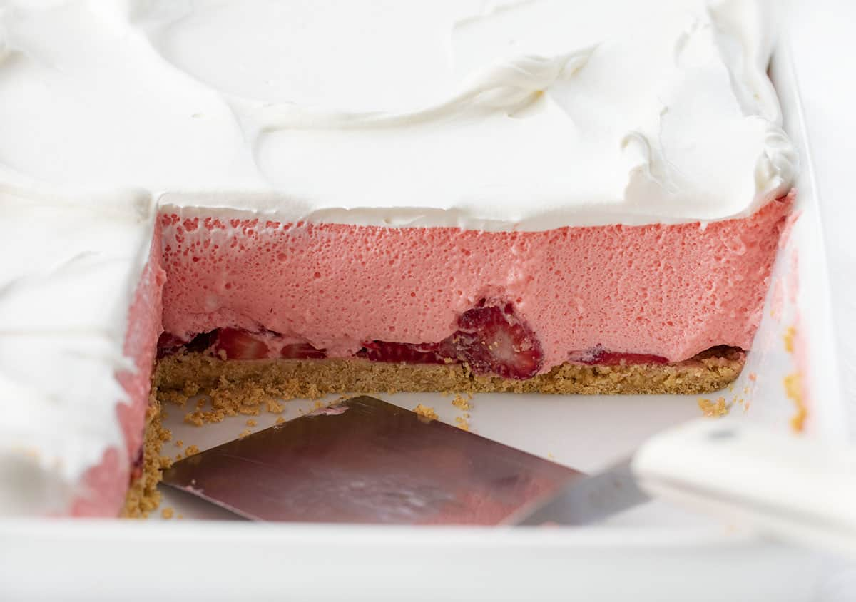 Strawberry Icebox Cheesecake in a Pan