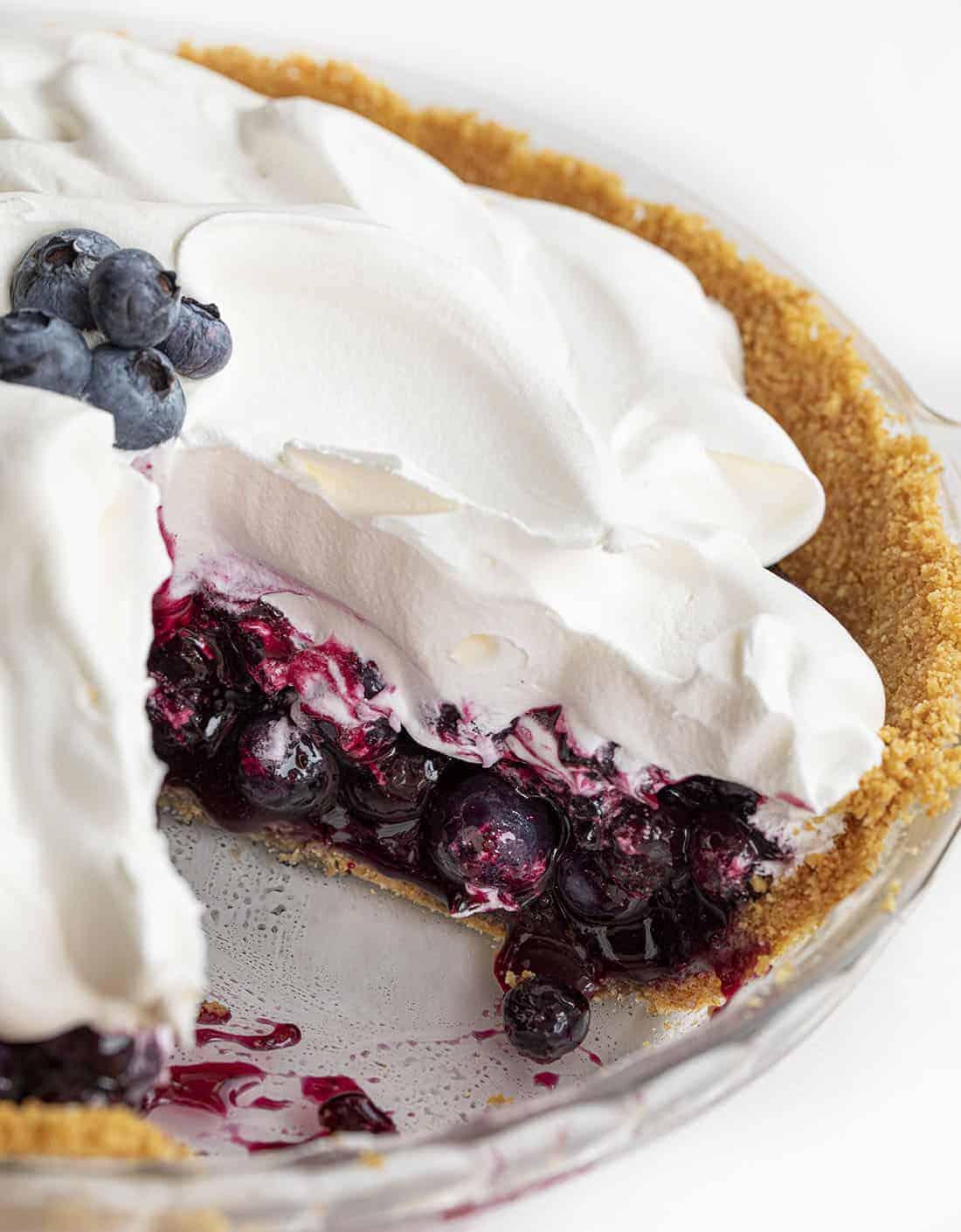 Cut Into Blueberry Pie