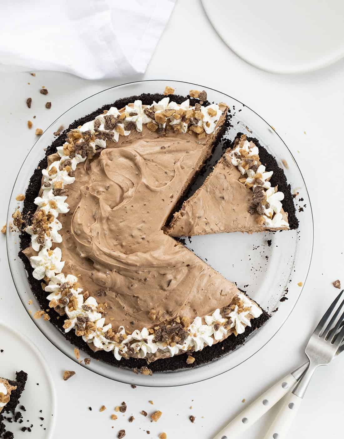 Cut Into Chocolate Heath Pie