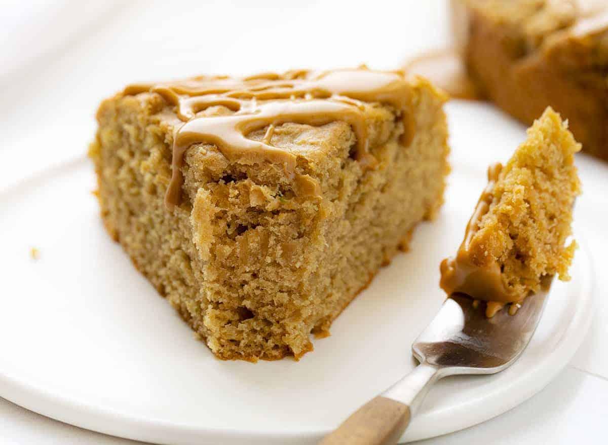 Piece of Peanut Butter Zucchini Cake