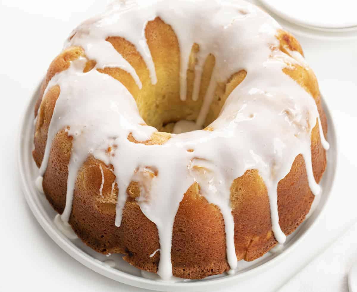 Peach Pound Cake with Vanilla Glaze