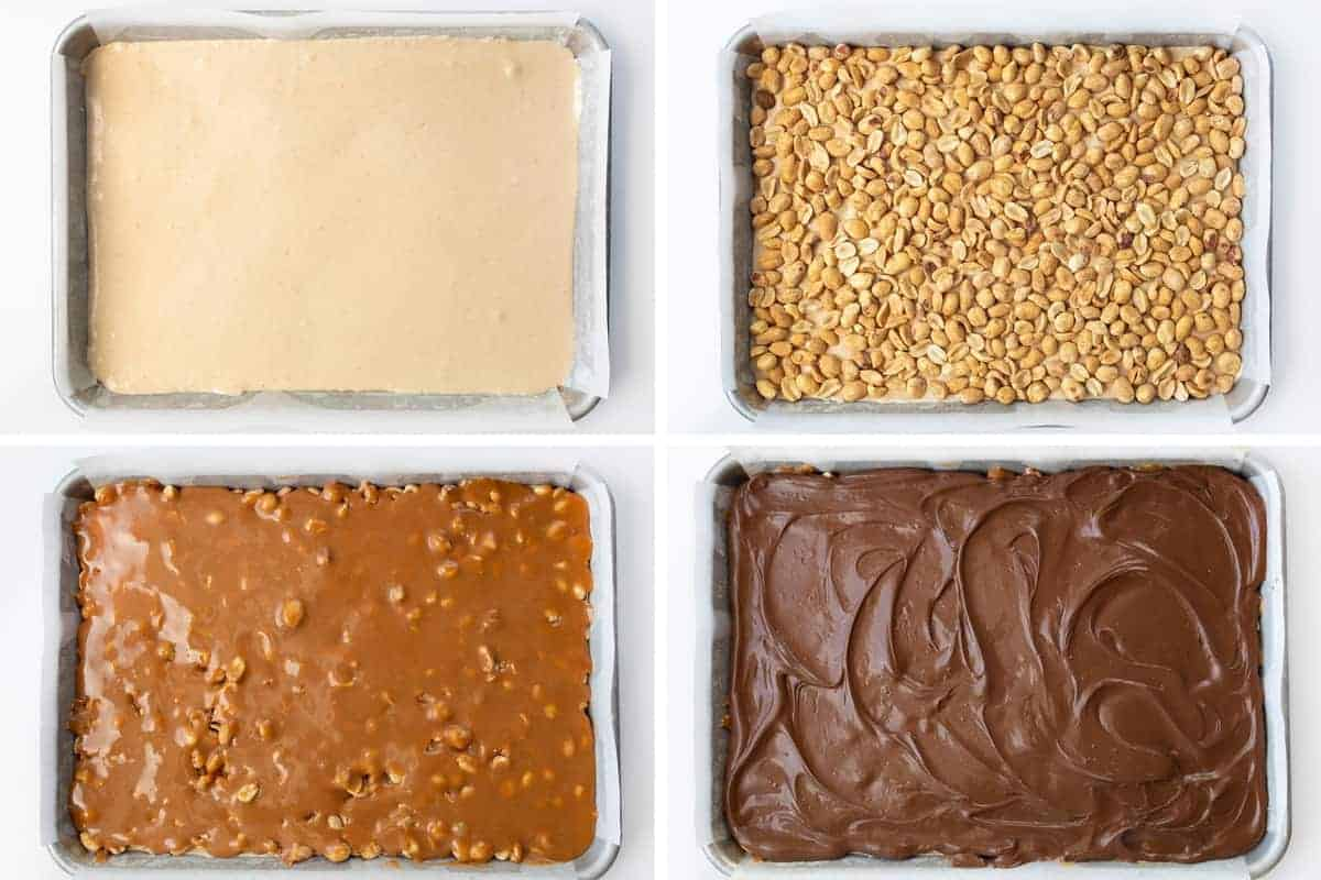 Process Steps for Making Homemade Snickers Bars