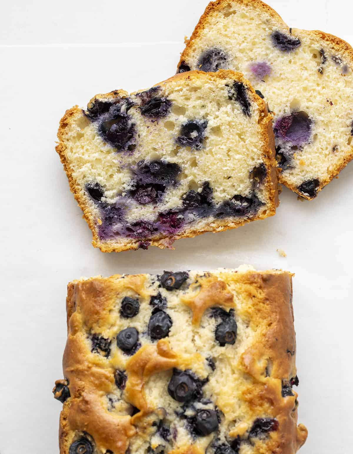 Cut Into Blueberry Bread