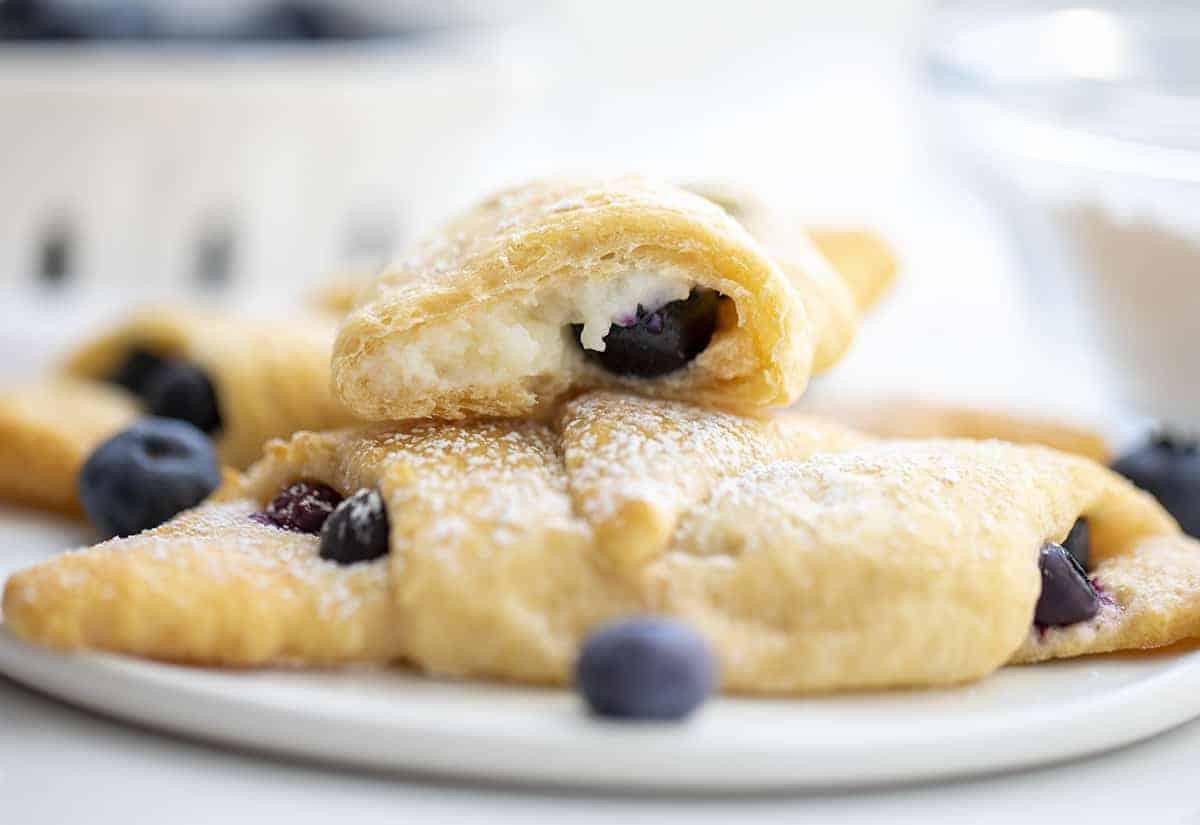Blueberry Cream Cheese Crescent Bites