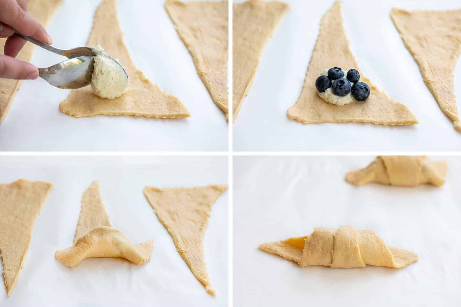 How to Make Blueberry Cream Cheese Crescent Bites