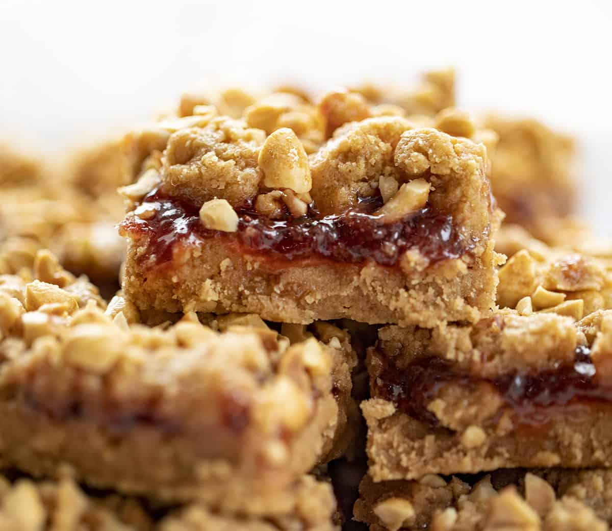 Stacked Peanut Butter and Jelly Bars