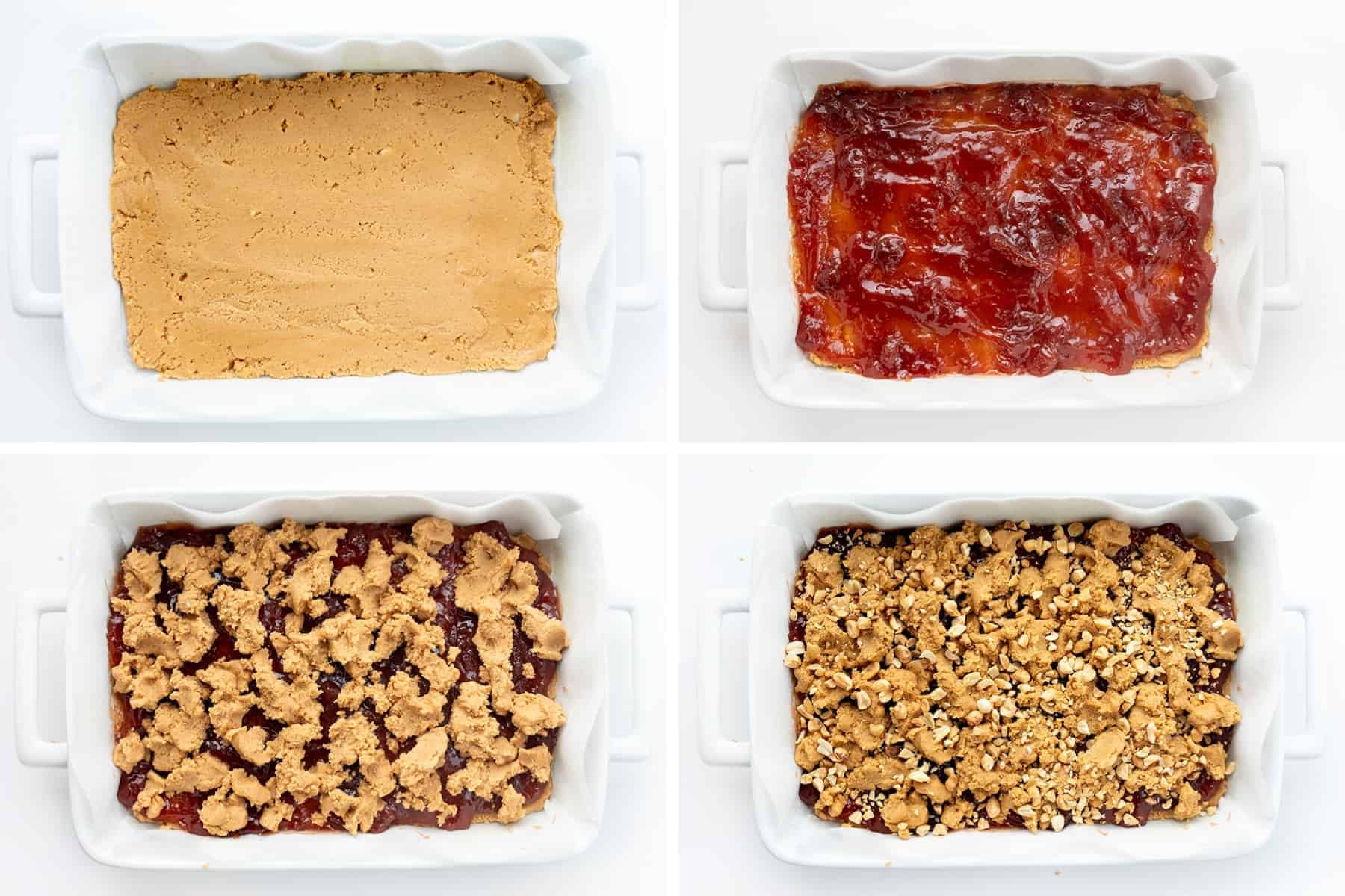 Process Steps for Making Peanut Butter and Jelly Bars