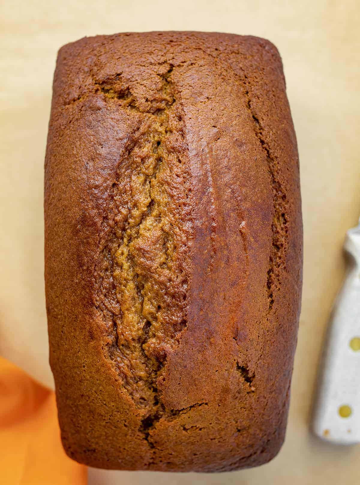 Overhead of Pumpkin Bread