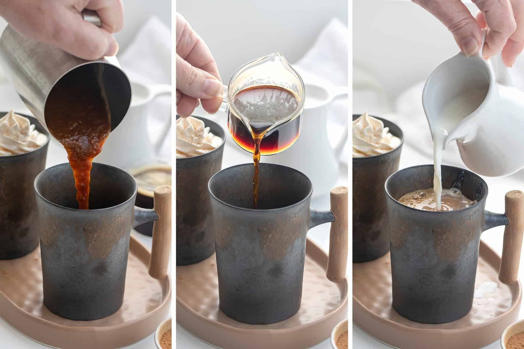 Process Steps for How to Make a Pumpkin Spice Latte