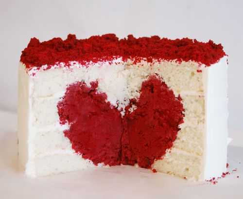 Heart Surprise Inside Cake