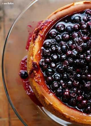 Tyler Florence Cheesecake ultimate blueberry cheesecake - i am baker