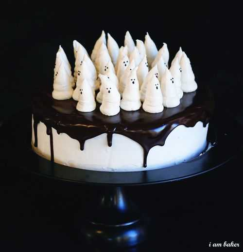Boo-tiful Halloween Cake on a cake stand