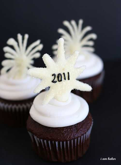 New Years Eve Cupcakes {Tutorial} | i am baker