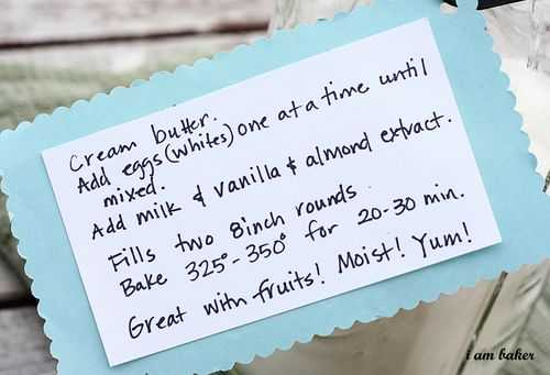 Directions for preparing homemade white cake